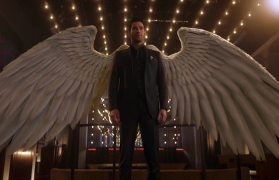 Lucifer Wings Prop Photo Shoot